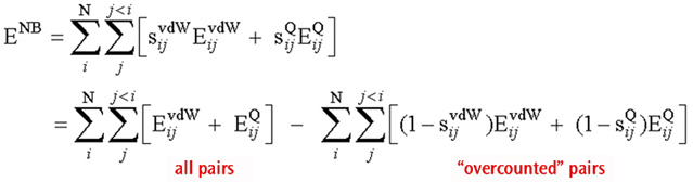Total Non-Bonded Energy Expression